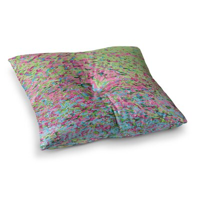 Spring Puddle Abstract Digital by Empire Ruhl Floor Pillow Size: 26 x 26