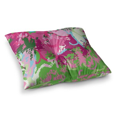 Spring Frolic Abstract by Empire Ruhl Floor Pillow Size: 26 x 26