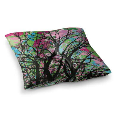 Tree of Spring 2 by Empire Ruhl Floor Pillow Size: 26 x 26