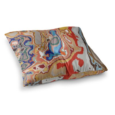 Colored Sand Digital by Empire Ruhl Floor Pillow Size: 23 x 23
