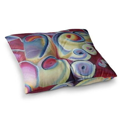 Groovy Flowers by Cathy Rodgers Floor Pillow Size: 26 x 26