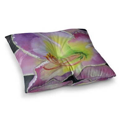 Violet and Lemon by Cathy Rodgers Floor Pillow Size: 23 x 23