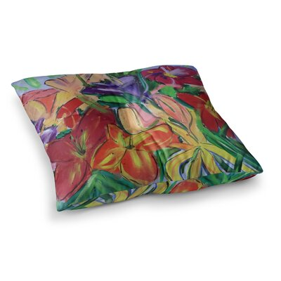 Matisse Styled Lillies Flower by Cathy Rodgers Floor Pillow Size: 23 x 23
