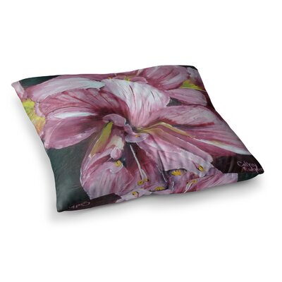 Day Lily Blooms Flower by Cathy Rodgers Floor Pillow Size: 26 x 26