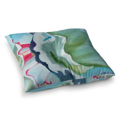 Peony Shadows Flower by Cathy Rodgers Floor Pillow Size: 23 x 23