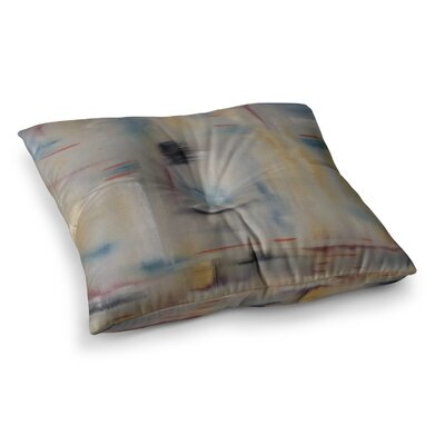 Library Painting Abstract by Cathy Rodgers Floor Pillow Size: 26 x 26