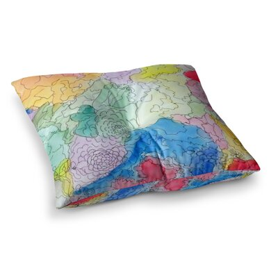 Floral Pathway by Cathy Rodgers Floor Pillow Size: 26 x 26