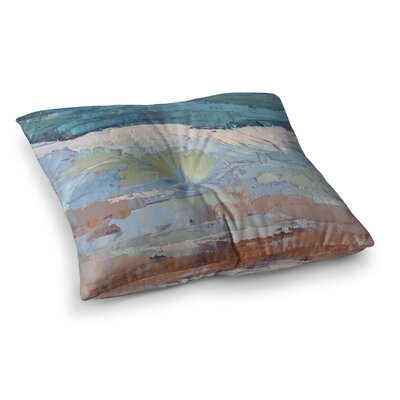 On the Beach by Carol Schiff Floor Pillow Size: 26 x 26