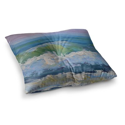 The Pastel Sea by Carol Schiff Floor Pillow Size: 26 x 26