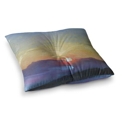 Mountain Sunset by Carol Schiff Floor Pillow Size: 23 x 23