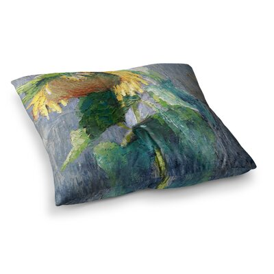Lonely Sunflower by Carol Schiff Floor Pillow Size: 23 x 23
