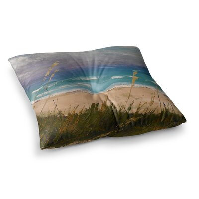 Florida Beach Scene by Carol Schiff Floor Pillow Size: 23 x 23