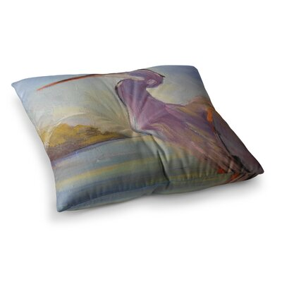 Tropical Sentry Animals by Carol Schiff Floor Pillow Size: 26 x 26
