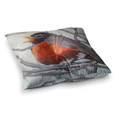 Winter Robin by Carol Schiff Floor Pillow Size: 26 x 26