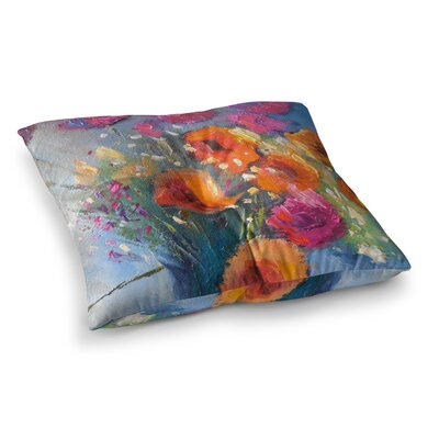 Roadside Bouquet by Carol Schiff Floor Pillow Size: 23 x 23