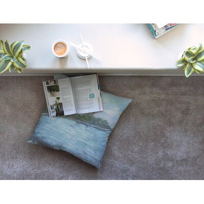 Lagoon by Carol Schiff Floor Pillow Size: 26 x 26