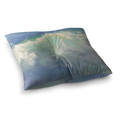 Caribbean Painting by Carol Schiff Floor Pillow Size: 26 x 26