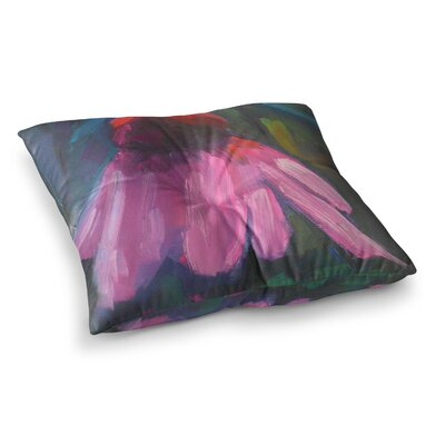 Shady Coneflower by Carol Schiff Floor Pillow Size: 23 x 23