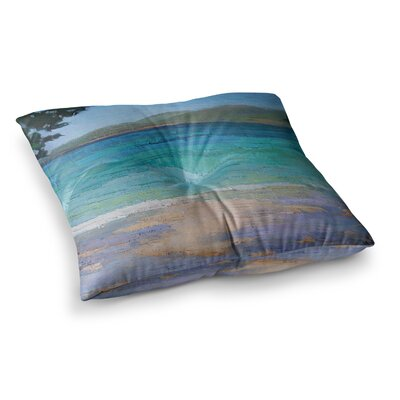 Caribbean Dream Painting by Carol Schiff Floor Pillow Size: 26 x 26
