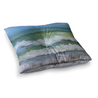 Atlantic Breakers Painting by Carol Schiff Floor Pillow Size: 26 x 26