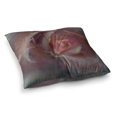 Rosey Day Painting by Carol Schiff Floor Pillow Size: 26 x 26