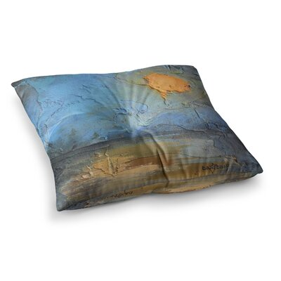 Moon Glow Mixed Media by Carol Schiff Floor Pillow Size: 26 x 26