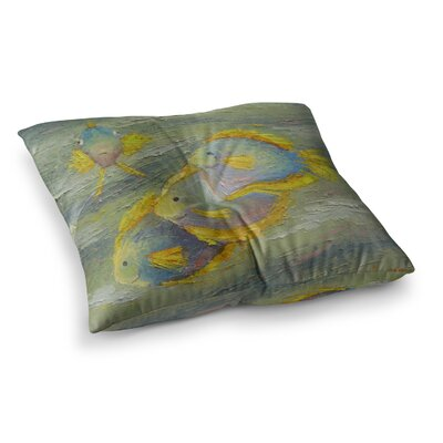Something Fishy Painting by Carol Schiff Floor Pillow Size: 26 x 26