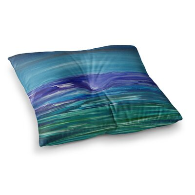 Moonlit Waves by Cyndi Steen Floor Pillow Size: 26 x 26