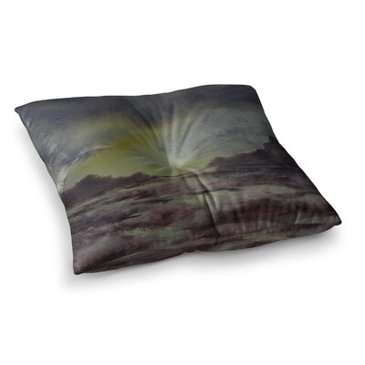Crashing Waves by Cyndi Steen Floor Pillow Size: 26 x 26