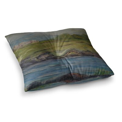Castle Ruins by Cyndi Steen Floor Pillow Size: 23 x 23