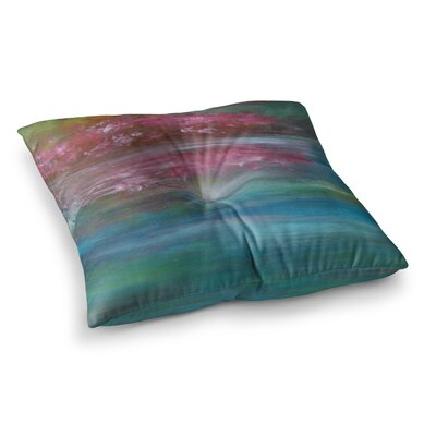 Bougainvillea Reflections by Cyndi Steen Floor Pillow Size: 26 x 26