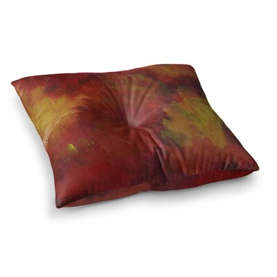 Winsor Flower by Cyndi Steen Floor Pillow Size: 26 x 26