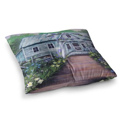 Ivy Cottage Again by Cyndi Steen Floor Pillow Size: 23 x 23