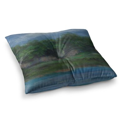 A Cooler View by Cyndi Steen Floor Pillow Size: 26 x 26