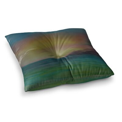 Christys Island Watercolor by Cyndi Steen Floor Pillow Size: 26 x 26
