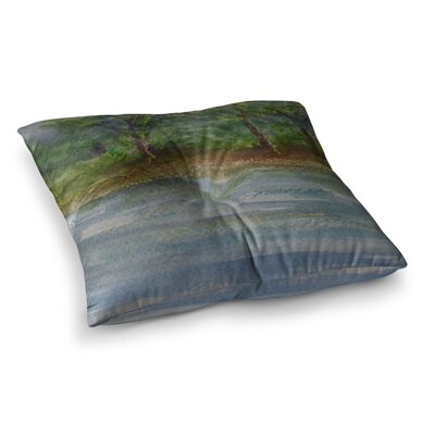 Storm on the Pond by Cyndi Steen Floor Pillow Size: 26 x 26