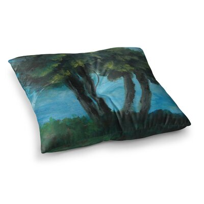 Twin Palms by Cyndi Steen Floor Pillow Size: 23 x 23