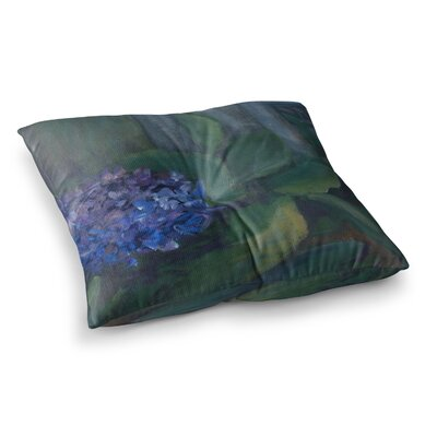 Hydrangea Floral by Cyndi Steen Floor Pillow Size: 23 x 23