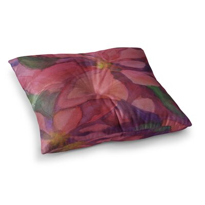 Cool Poinsettias by Cyndi Steen Floor Pillow Size: 23 x 23