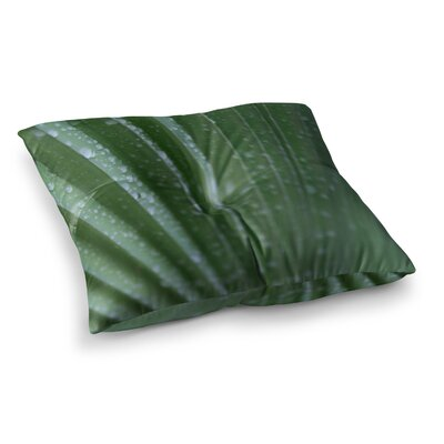 Palm Frond Nature by Cyndi Steen Floor Pillow Size: 23 x 23