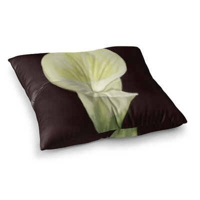 Portrait of a Calla Lily Floral by Cyndi Steen Floor Pillow Size: 26 x 26