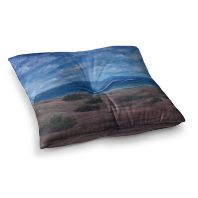 Donnas Beach Painting by Cyndi Steen Floor Pillow Size: 26 x 26