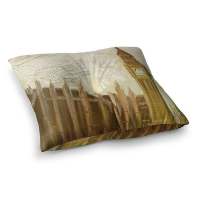 British Parliament Digital by cyndi steen Floor Pillow Size: 23 x 23