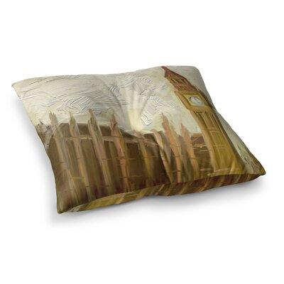 British Parliament Digital by cyndi steen Floor Pillow Size: 26 x 26