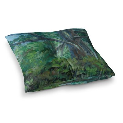 Florida Pine Painting by Cyndi Steen Floor Pillow Size: 26 x 26