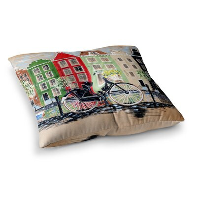 Bicycle by Christen Treat Floor Pillow Size: 26 x 26