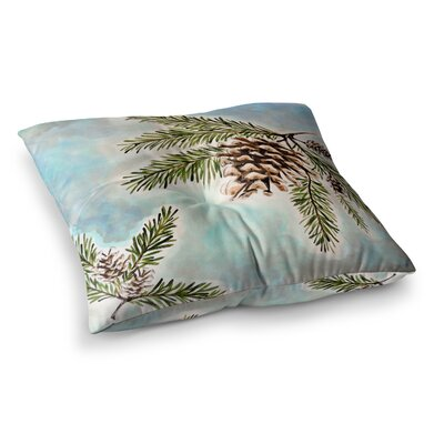 Pinecones and Sky by Christen Treat Floor Pillow Size: 26 x 26