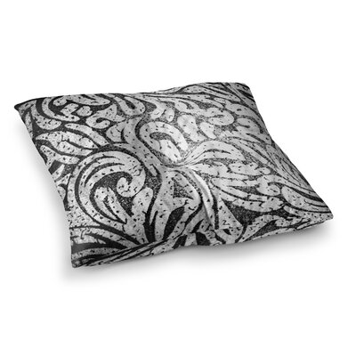 Monochrome Paisley by Alveron Floor Pillow Size: 26 x 26