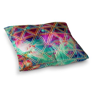 Geo Galaxy Rainbow by Alveron Floor Pillow Size: 23 x 23