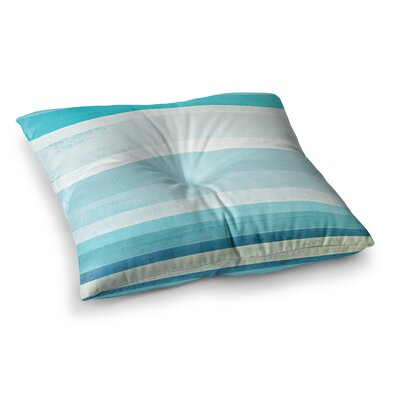 Waves by CarolLynn Tice Floor Pillow Size: 23 x 23